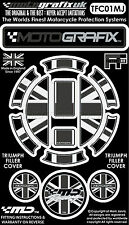 Triumph Mono Union Jack Petrol Fuel Gas Cap Cover Motografix 3D Gel Protector