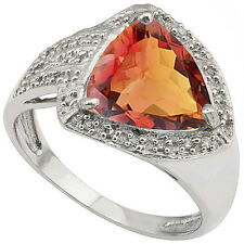 GORGEOUS 3.68 CTW GENUINE DIAMOND & AZOTIC GEMSTONE 925 STERLING SILVER RING
