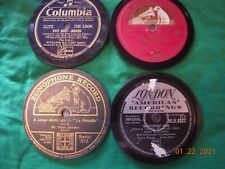 Four 78 Rpm Record Label Repro Coasters. 3.5 in diameter. Cool for the patio!