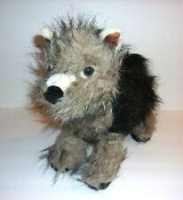 """Melissa and Doug Plush Small Black and Gray Dog Wolf 13"""""""