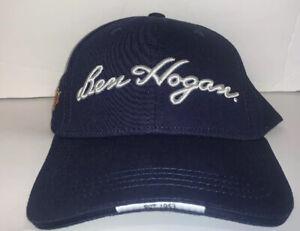 New Ben Hogan Men's Embroidered Golf Hat Cap Adjustable Navy Blue
