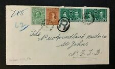Newfoundland Cover with Harbor Mille Cancel Used