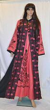 Egyptian Cotton Embroidery Arabesque Dress Long Abaya Jilbab Tatreez