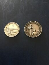 More details for 2 large heavy vintage solid silver garden related medals