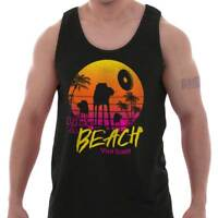Beach Star Funny Galaxy Space Movie Vacation Adult Tank Top T-Shirt Tees Tshirt