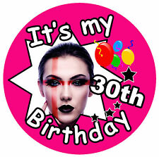 IT'S MY 30TH BIRTHDAY BADGE - BIG PERSONALISED BADGE, PHOTO, ANY AGE