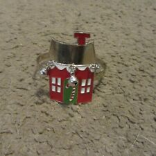 CUTE, RARE! Bath and Body Works Jingle Bell Home 1.6 oz. Mini Candle Holder Ring