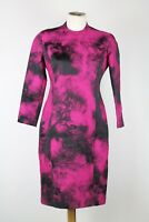 Paul Smith Black and Pink Spray Print Dress, Size UK 10 / 38 EU