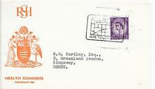 GB SPECIAL CANCEL COVER 25/4/1960;R.S.H.HEALTH CONGRESS TORQUAY.