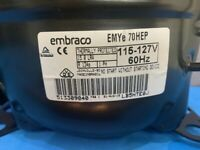 Embraco Compressor EMYe70HEP R134a 115-127V/60 Low Back Pressure 1/5 HP