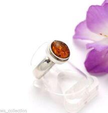 Ringe mit Edelsteinen für Damen (18,1 mm Ø) Bernstein echten Innenvolumen