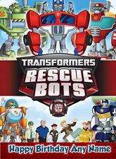 Personalised Birthday Card - Transformers Rescue Bots - Childrens Son Grandson