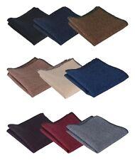 Boys Mens Matching Pocket Squares Herringbone Tweed Wedding Handkerchief Hanky