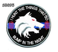 I HUNT THE THINGS Iron on Small Patch for Biker Vest SB895