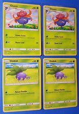 4x Gloom 5/147, 4x Oddish 4/147 Pokemon TCG card SM Burning Shadows NM