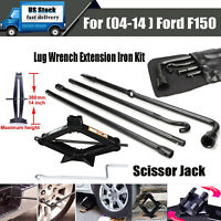2 Ton Scissor Jack Lug Wrench Extension Spare Tire Tool Kit for 04-14 Ford F150