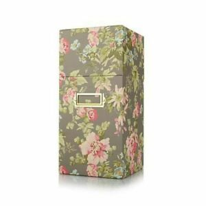 """Anna Griffin 12"""" Embossing Folder and Plate Storage Box Camilla Floral NEW"""