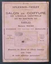 Buvard SPLENDID-TOILET Salon de coiffure Ecole Centrale massage Paris rose 2