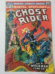 Marvel Spotlight #8 The Ghost Rider(Marvel,1973) 4th Ghost Rider app, Key VG+/F