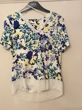 MARKS AND SPENCER BLUE YELLOW TOP SIZE 8 NEW/TAGS