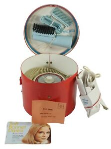Vintage Lady Schick Style Dryer Hair Blow Dryer Model 327 Working Red Case