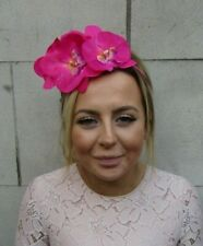 Hot Pink Orchid Flower Fascinator Headpiece Headband Hair Band Floral Races 7974