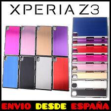 FUNDA DE ALUMINIO PARA SONY XPERIA Z3 INTERIOR Y LATERAL CROMADO CARCASA