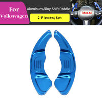 Blue Steering Wheel Shift paddle Shifter Extension For VW Volkswagen Golf 7 Polo