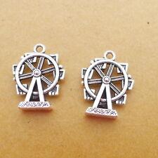 10pcs Romantic Ferris Wheel Charms Tibetan Silver Bead DIY Pendant 17*22mm