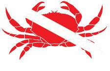 Scuba Diving Bumper Sticker Dive Flag Decal - Crab - DS154