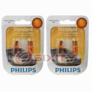 2 pc Philips Front Side Marker Light Bulbs for Rolls-Royce Silver Shadow vl