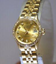 Rolex Watch SOLID 18K YG  Datejust President Diamond Bezel & Dial Hours 6517