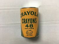 Rare vintage Crayola 48 colors crayon sealed can NOS