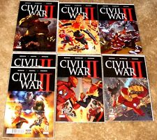 MARVEL CIVIL WAR II #0 X 2,1,2,3,4,5 1ST ED VERY HI GRADE FREE BAGGED & BOARDED
