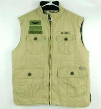 Decibel Royal Air Force Mens Beige Vest Full Zip Jacket Size XL EUC