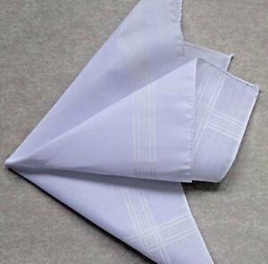Handkerchief MENS Hankie NEW Top Pocket Square WHITE GEOMETRIC