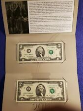 """2011 USA $2 TWO DOLLAR FEDERAL RESERVE """"DOUBLE DEUCE"""" NOTE SET UNC BEP"""
