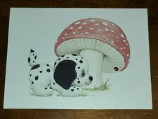 Vintage PLAYFUL PUP notecard by Ruth J. or Bill D. Morehead, unused, Dalmation