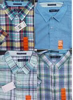 NEW Nautica Men's Casual linen & cotton shirts solids & plaid Size M L XL XXL