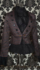Ladies Steampunk Brown/Black Punk Emo Pirate Victorian Tailcoat Cotton Jacket