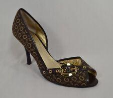 GUESS 'Samonte' Brown Sig. G Print Peep Toe Stiletto Heels Women's Size 10 M