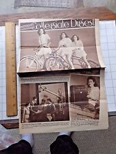 1942 Collegiate Digest Mag. College News in Picture & Paragraph. Coeds on Bikes