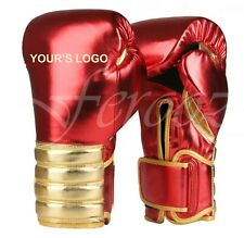 Metallic Boxing Gloves Punching Training Sparring Muay Thai No Grant NO Winning