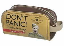 Toiletry Wash Bag DONT PANIC Travel Shaving Grooming Beige Dads Army NWT