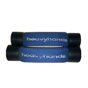 AMF 2 Heavyhands 2 lb Blue Weights Aerobic Dumbbell Walking Heavy Hands End Cap