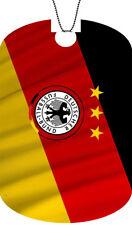 GERMANY flag Adult Dog Tag Chain GERMAN Necklace DEUTSCHER Version