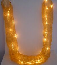 Gold Organza AA Battery LED Hanging Column Tube Fairy Lights