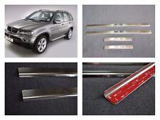 Door Sill Scuff Plate Guards Sills For BMW X5 E53 1999-2005 Threshold Protectors