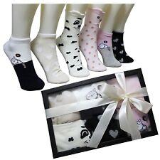 Calcetines Mujer Corazones Animales Caja Regalo Cumpleaños Ideas Box Moda Chicas