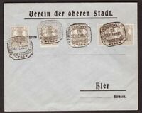 Germany, 1919 multifranked cover with special cancels  -AT72
